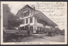 CPA  Suisse, STEINBACH B Belp, Wirtschaft Zur Traube, 1919 - BE Berne