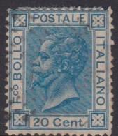 Italy S 26 1867 King Victor Emmanuel II,20c Blue, Used - 1861-78 Vittorio Emanuele II
