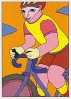 Cpm 1741/460 ERGON - Homme à Bicyclette  - Vélo - Cyclisme - Bicycle - Cycle - Illustrateurs - Illustrateur - Ergon