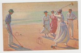 AC286 - SPORT - JEU DE CROQUET - Illustration TANQUERET - Cartes Postales