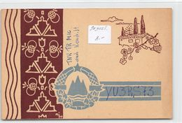 QSL Cards - YU3RS73 To YU3CW Yugoslav Amateur Station - Yugoslavia - Slovenije - Sloveija - 1954 - Radio Amatoriale