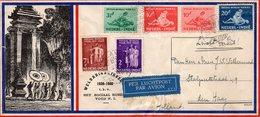 1940 Weldadigheidszegels Op Luchtpostbrief  Malang-Den Haag - Luchtpost