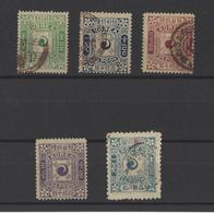 COREE.  YT  N° 6-7-8-9-11  Neuf */obl  1895/1900 - Corea (...-1945)