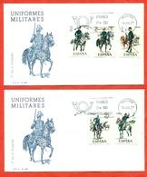 Spain 1977.FDC.  Military Uniforms. - Militaria