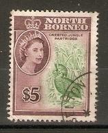 NORTH BORNEO 1961 $5 SG 405 FINE USED Cat £24 - North Borneo (...-1963)