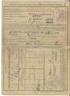 DOCUMENT ADMINISTRATIF CARTE QUITTANCE ASSURANCE OBLIGATOIRE ET CONTINUÉE 1921 MAIRIE ERSTEIN 67 AVEC TIMBRES - Banque & Assurance
