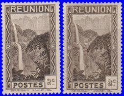 Réunion 1933. ~  YT 126* Par 2 - 2 C. Cascade De Salazie - Réunion (1852-1975)