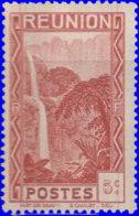 Réunion 1933. ~  YT 128* - 5 C. Cascade De Salazie - Réunion (1852-1975)