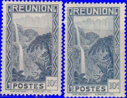 Réunion 1933. ~  YT 129* Par 2 - 10 C. Cascade De Salazie - Réunion (1852-1975)
