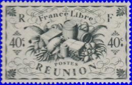 Réunion 1943. ~  YT 237* - 40 C. Série De Londres - Réunion (1852-1975)