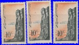 Réunion 1947. ~  YT 262* Par 3 - 10 C. Cliff - Isola Di Rèunion (1852-1975)