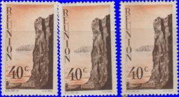 Réunion 1947. ~  YT 264* Par 3 - 40 C. Cliff - Réunion (1852-1975)