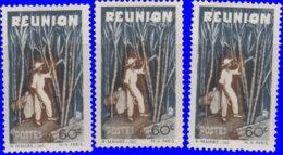 Réunion 1947. ~  YT 266* Par 3 - 60 C. Plantation - Réunion (1852-1975)