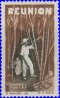 Réunion 1947. ~  YT 267* - 80 C. Plantation - Isola Di Rèunion (1852-1975)