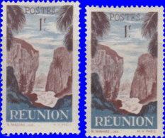 Réunion 1947. ~  YT 268* Par 2 - 1 F. Vue - Isola Di Rèunion (1852-1975)