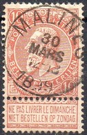 N° 57 Oblitération MALINES - 1893-1900 Schmaler Bart