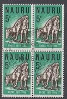 Nauru S 4 1965  50th Anniversary ANZAC Landing At Gallipoli, Block 4, Used - Nauru