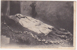 Le Bienheureux J.-M.-B. VIANNEY, Curé D'Ars, Sur Son Lit De Mort (1859) / Timbre Pasteur 15c / 1925 - Santos