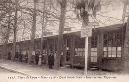 """EXPOSITION  DE LYON  1916 """"Quai Saint Clair """" Imprimerie - Lyon"""
