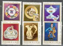 POLAND MNH ** 2608-2613 PORCELAINE FAIENCE, Wloclawek Korzek Baranowka Horodnica Lubartow Biala Podlaska - Ungebraucht