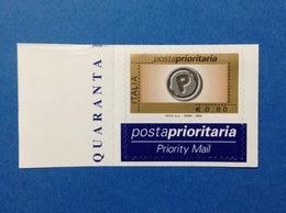 2004 Italia Francobollo Nuovo Stamp New MNH** Posta Prioritaria Prioritario 0,80 In Rotocalco Da Foglio Di 40 - 6. 1946-.. Repubblica
