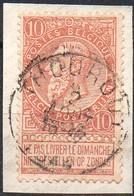 N° 57 Sur Fragment Oblitération THOUROUT - 1893-1900 Schmaler Bart
