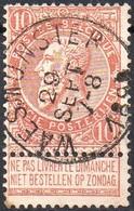 N° 57 Oblitération WAESMUNSTER (COBA + 10 €) - 1893-1900 Schmaler Bart