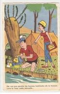 CPH 289  OLD POSTCARD , HUMOR FANTASY , - Humor