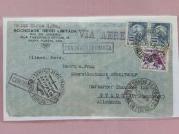 BRASILE Anni '30 - Lettera Spedita Con Zeppelin In Germania Con Servizio Aereo Transoceanico + Spedizione Prioritaria - Airmail