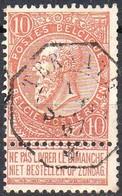 N° 57 Oblitération Octogonale TERNATH - 1893-1900 Schmaler Bart