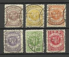 MEMELGEBIET 1923 Lithuania Litauen Memel Klaipeda Michel 141 - 146 O - Lituania