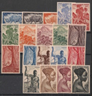 AEF - 1947 - N°Yv. 208 à 226 - Série Complète - Non Dentelé / Imperf. - 19 Valeurs Incl. 219 - Neuf Luxe ** / MNH - A.E.F. (1936-1958)