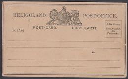 187?. HELGOLAND POST-OFFICE POST-CARD POST-KARTE. () - JF304856 - Heligoland (1867-1890)