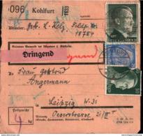 ! 1942 Paketkarte Deutsches Reich, Kohlfurt - Allemagne