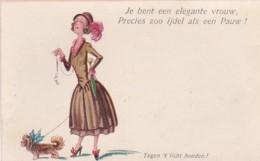 2605      20           Je Bent Een Elegante Vrouw, Precies Zoo Ijdel Als Een Pauw !(minuscuul Vouwtje Rechtsonder, - Tegenlichtkaarten, Hold To Light