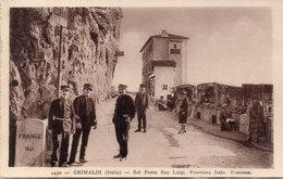 GRIMALDI - Sul Ponte San Luigi - Frontièra Italo - Francese  (117712) - Douane
