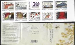 GREECE , 2019, MNH, DIPLOMATIC RELATIONS WITRH JAPAN, MOUNTAINS,  SHIPS, LIONS, KITES, BIRDS, COSTUMES, KIMONOS, BOOKLET - Other