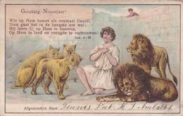260594Gelukkig Nieuwjaar, Wie Op Hem Bouwt Als Eenmaal Daniël…(diverse Vouwen) - Nieuwjaar