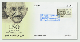 Egypt - 2019 - New - Rare - FDC - ( 150th Annie., Birth Of Mahatma Gandhi ) - Mahatma Gandhi