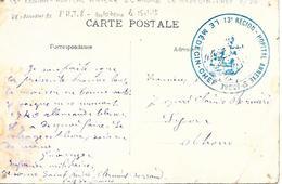 63- Cachet Hôpital Annexe Saint-André à Clermont-Ferrand  Sur CP En 14/18 - Guerre De 1914-18