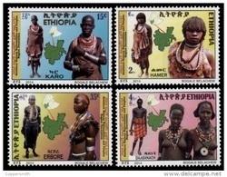 (455) Ethiopia / Ethiopie  Population / Peoples / Girls / Women / 2014  ** / Mnh  Michel 1927-30 - Etiopía