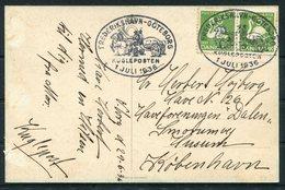 1936 Denmark S/S KRONPRINSESSAN INGRID Ship Postcard. Kugleposten Frederikshavn - Goteborg. HC Andersen - 1913-47 (Christian X)