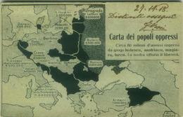 WWI ITALIAN PROPAGANDA OPPRESSED PEOPLE BY AUSTRIA GERMANY TURKEY HUNGARY - POSTA MILITARE 58 COMANDO 8 ARMATA  (BG720) - Guerra 1914-18
