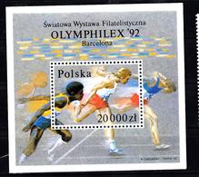 Polen 1992 Mi Nr Blok 118 A, OLYMPHILEX '92, Barcelona, - Nuevos