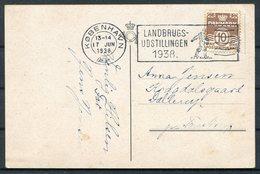 1938 Denmark København Landbrugsudstillingen Postcard - 1913-47 (Christian X)