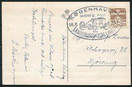 1938 Denmark København Landbrugsudstillingen Diligence Post Postcard - 1913-47 (Christian X)