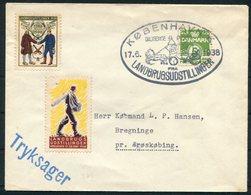 1938 Denmark Copenhagen København Landbrugsudstillingen Diligence Post, Exhibition Vignettes Cover - Covers & Documents