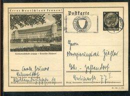 """Deutsches Reich / 1939 / Bildpostkarte """"LEIPZIG"""" Masch.-Stempel Berlin-Charlottenburg """"Unfallschutz"""" (1949) - Deutschland"""