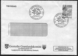 1987 Denmark Gentofte Gronlandskomite Cover. Slania - Covers & Documents