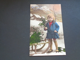 Sport ( 314 ) D' Hiver  Traîneau  Luge  Slede  Slee  -  Enfant - Sports D'hiver